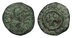 Ancient Coins - Anonymous Early Christian period, c. 340-540 A.D. AE11 VF Includes old collector's ticket.
