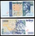 World Coins - PORTUGAL Banco de Portugal 11 September 1997 2000 Escudos EF