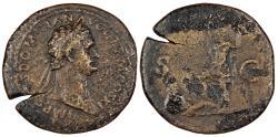 Ancient Coins - Domitian 81-96 A.D. Sestertius Rome Mint Good Fine