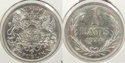 World Coins - LATVIA: 1924 1 Lats
