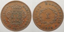 World Coins - MADEIRA ISLANDS: 1852 10 Reis
