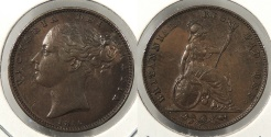 World Coins - GREAT BRITAIN: 1850 Farthing