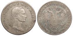 World Coins - AUSTRIA Franz II (I) - Holy Roman Empire 1832-A Contemporary Counterfeit 20 Kreuzer AU/UNC