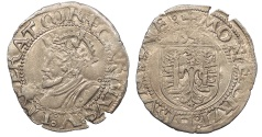 World Coins - FRANCE Besançon Charles V, as Holy Roman Emperor 1530-1556 Blanc 1542 EF