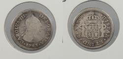 World Coins - MEXICO: 1783-Mo FF Charles III 1/2 Real