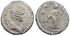 Ancient Coins - Julia Domna, wife of Septimius Severus 193-211 A.D. Denarius Emesa or Laodicea ad Mare Mint Near EF
