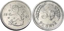 World Coins - FINLAND: 1947 50 Penni?