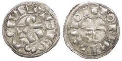 World Coins - FRANCE Languedoc County of Tolouse Raymond V, VI, or VII 1148-1249 Denier, or Raimondin 'PAX' type EF