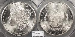 Us Coins - 1884 CC Morgan 1 Dollar (Silver) PCGS MS-63