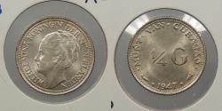 World Coins - CURACAO (CURAÇAO): 1947 1/4 Gulden