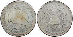 World Coins - MEXICO 1833-Pi JS 8 Reales AU