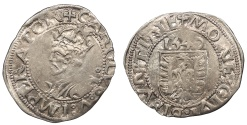 World Coins - FRANCE Besançon Charles V, as Holy Roman Emperor 1530-1556 Blanc 1540 Good VF