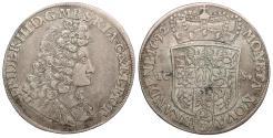 World Coins - GERMAN STATES Brandenburg Friedrich III 1692-ICS 2/3 Thaler (Gulden) EF