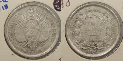 World Coins - BOLIVIA: 1892-Potosi CB 50 Centavos