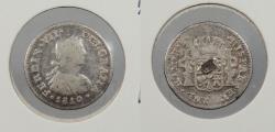 World Coins - MEXICO: 1810-Mo HJ Ferdinand VII 1/2 Real
