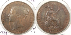 World Coins - GREAT BRITAIN: 1858 Penny