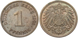 World Coins - GERMANY: 1905 J 1 Pfennig