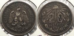 World Coins - MEXICO: 1911 20 Centavos