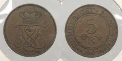 World Coins - DENMARK: 1907 5 Ore
