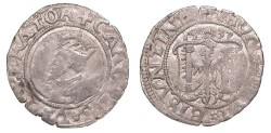 World Coins - FRANCE Besançon Charles V, as Holy Roman Emperor 1530-1556 2 Blanc (Karolus) 1537 VF