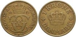 World Coins - DENMARK: 1931 1 Krone