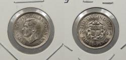 World Coins - GREAT BRITAIN: 1943 Struck for use in British W. Indies. 3 Pence