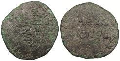World Coins - INDIA Goa Jose I ND (1750-1777) 1/2 Tanga (30 Reis) Fine
