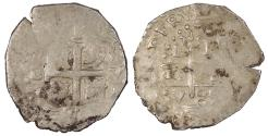 World Coins - PERU Carlos (Charles) III 1689-L V Real VF