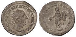 Ancient Coins - Trajan Decius 249-251 A.D. Antoninianus Rome Mint EF