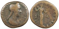 Ancient Coins - Sabina, wife of Hadrian 117-138 A.D. Sestertius Rome Mint Fine