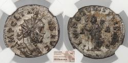Ancient Coins - Tacitus 275-276 A.D. Antoninianus Gaul Mint NGC AU