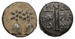Ancient Coins - Kolchis Dioskourias Late 2nd century B.C. AE16 Good VF