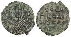 Ancient Coins - Theophilus 829-842 A.D. Half Follis Constantinople Mint VF