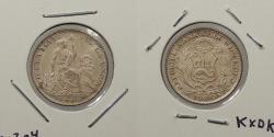 World Coins - PERU: 1900 JF Dinero