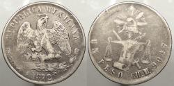 World Coins - MEXICO: 1872-CH M Peso