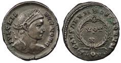 Ancient Coins - Crispus, as Caesar 317-326 A.D. Follis London Mint Near EF