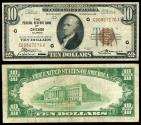 Us Coins - Chicago, Illinois Federal Reserve Bank 1929 10 Dollars VF