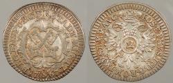 World Coins - GERMAN STATES: Regensburg 1767-N 2 Kreuzer (1/2 Batzen)