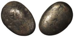 World Coins - JAPAN ND (1859-1865) Mameita Gin 'Bean' VF