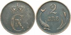 World Coins - DENMARK: 1881 2 Ore