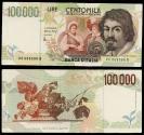World Coins - ITALY Banca d'Italia 6 May 1994 100000 Lire VF/EF