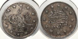 World Coins - TURKEY: AH1293 Yr17 (1891) 2 Kurush