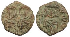 Ancient Coins - Constantine V 741-775 A.D. Follis Syracuse Mint VF