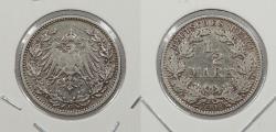 World Coins - GERMANY: 1908-G 1/2 Mark