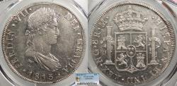 World Coins - GUATEMALA Ferdinand VII 1813-NG M 8 Reales PCGS AU-55
