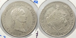 World Coins - HUNGARY: 1833-B 20 Krajczar