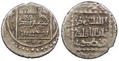Ancient Coins - Anatolian Beyliks Isfendiyarids (Candarids) Anonymous, temp. 'Adil Beg c. AH746-760 (1345-1359 A.D.) 1/2 Akce Kastamonu or Sinop mint (?) Good VF