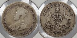 World Coins - AUSTRALIA: 1923 3 Pence