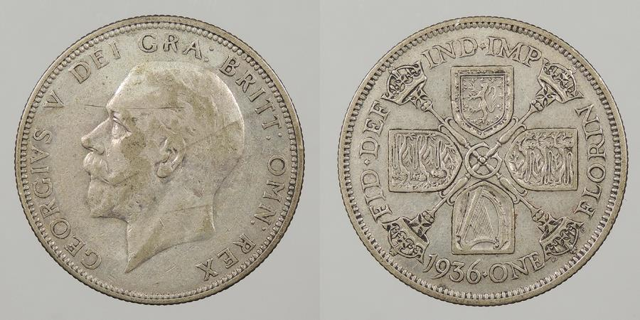 World Coins - GREAT BRITAIN: 1936 Florin