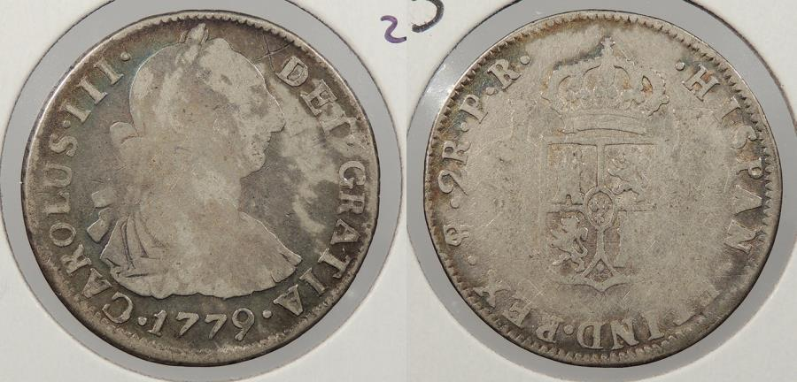 World Coins - BOLIVIA: 1779-PTS PR Charles III 2 Reales